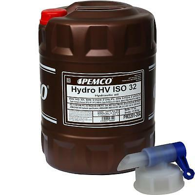 20 litres Pemco Hydro HV ISO 32 HVLP 32 HUILE HYDRAULIQUE OIL HUILE incl.