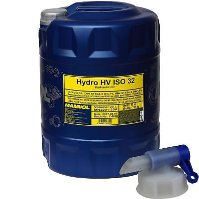 20 L MANNOL Hydro HV ISO 32 HUILE HYDRAULIQUE HVLP 32 DIN 51524 / 3+