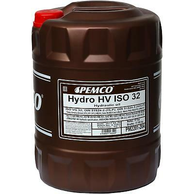 20 Litre ORIGINAL Pemco Hydro HV ISO 32 HVLP 32 HUILE HYDRAULIQUE HUILE HUILE