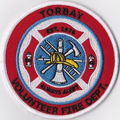 Torbay Volunteer Fire Dept. NL, Canada patch NEW