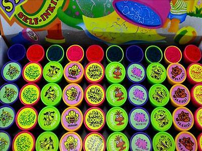 10x TEACHER STAMPER school prizes party favour stamps stocking filler gift kids