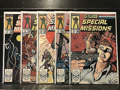 Lot of 5 GI Joe Special Missions #11 12 13 14 15 (1986 Marvel) Combined Shipping