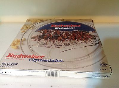 """Budweiser Clydesdales 13"""" Glass Plate"""