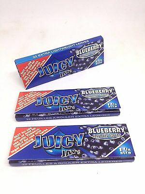 Juicy Jay Rolling Blueberry Papers 3 packs 32 leaves/pack  1 1/4 sz