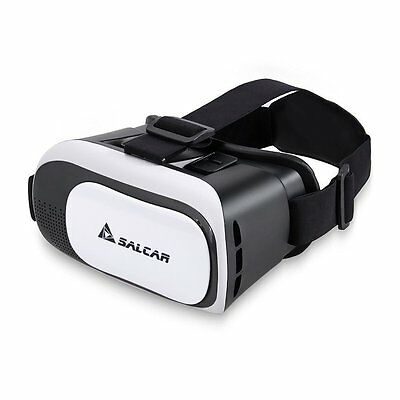 Salcar 3D Virtual Reality (VR) Glasses for 4.5 to 6.0 Inch Smartphone. (White)