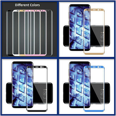 3D Real Full Cover Tempered Glass Screen Protector For Samsung Galaxy S8/S8 Plus