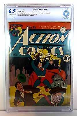 Action Comics #45 (CBCS 6.5) (1942, DC) Wow!