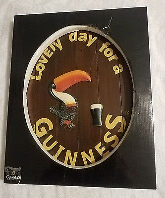 Vintage Wood Guinness Lovely Day for a Guinness Advertising Beer Sign BRAND NEW
