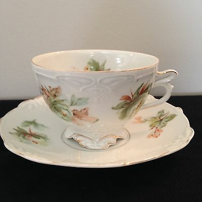 H Ohme Moustache cup and saucer Germany