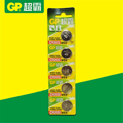 5PCS GP CR2032 DL2032 2032 3V Cell Button Coin Battery Batteries