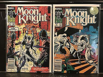 Lot of 2 Moon Knight #1 2 (1985 Marvel) Combined Shipping Deal!