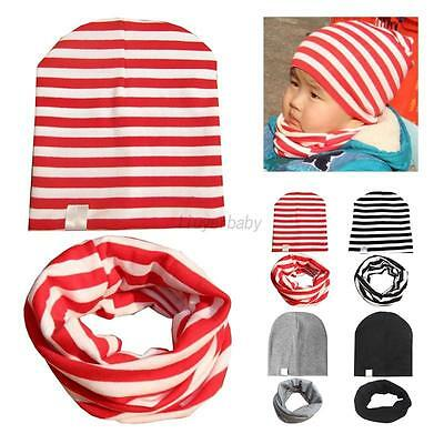 Infant Toddler Kids Baby Winter Warm Hat Scarf Set Boy Girl Cotton Hat Cap Scarf
