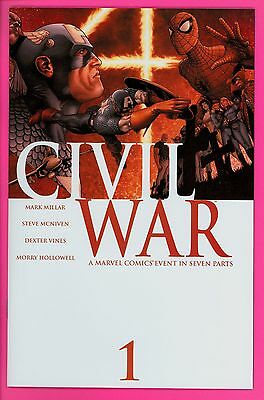 Civil War 1 2 3 4 5 6 7 lot NM near mint Marvel comics run set 2006