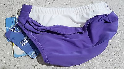 Gorgeous White Soda Girls Purple & White Swim Nappy, Swimwear, UPF 50+ - BNWT