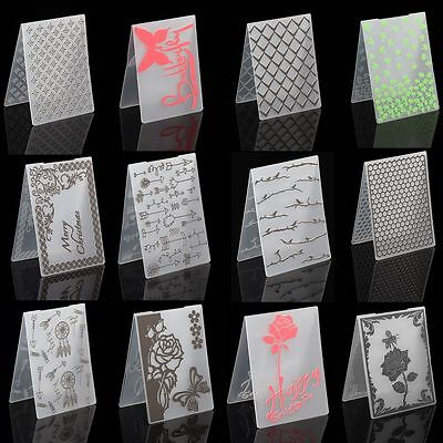 DIY Plastic Embossing Folder Template Scrapbook Paper Craft Various Pattern