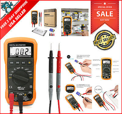 Updated Auto Ranging Digital Multimeter Fluke Meter Volt Tester Clamp Ohm AC DC