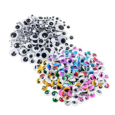 476x Assorted SELF ADHESIVE Google Wiggly Eyes Embellishments for DIY Craft