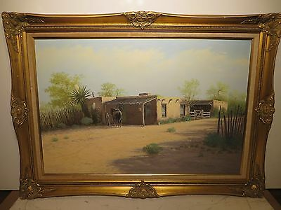 """24x36 original oil painting by Charles C. Summey """"Adobi House in New Mexico"""""""