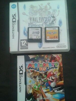 Jeux ds final fantasy et mario party