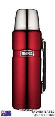 Thermos 24hr Hot & Cold Stainless Vacuum Flask 1.2L Red AUTHENTIC BNWT