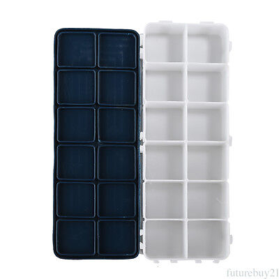 Portable Watercolor Plastic Rectangle Box With Soft Lid Color Water Powder Box