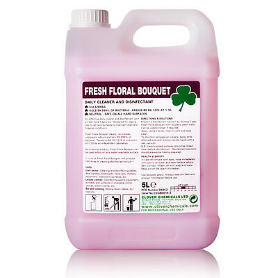 5L Floral Deodoriser & Disinfectant & Cleaner Kills 99.999% Bacteria