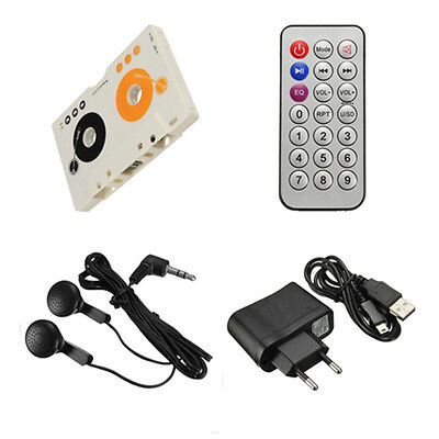 Car Telecontrol  MP3 Player Tape Cassette Audio Adapter Remote Control SD USB