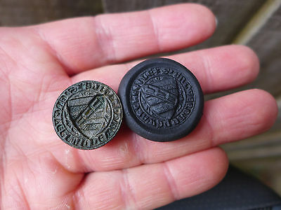 Rare Medieval Armorial Seal Matrix 14th Century.