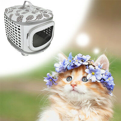 Small Dog Cat Animal Carrier Home Transport Pet Basket Cage for Outdoor Travel