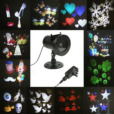 Outdoor Xmas LED Laser Star Projector Light 12 Slides Switchable Spotlight UK