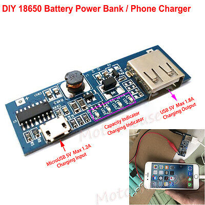 5V USB Lithium Li-ion 18650 3.7V Battery LCD Charger Module DIY Phone Power Bank