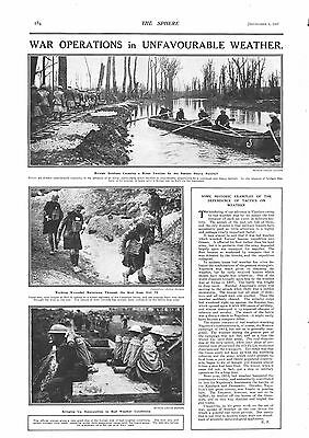 1917 Antique Print - Ww1- War Operations In Unfavourable Weather