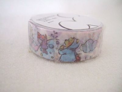 Disney Store Japan Winnie the Pooh paper tape NEW 15mm x 8m washi tape weather