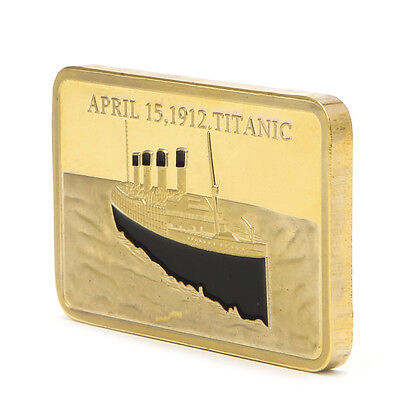 Tragedy Of The Titanic 1912 Golden Commemorative Coins Collection Souvenir