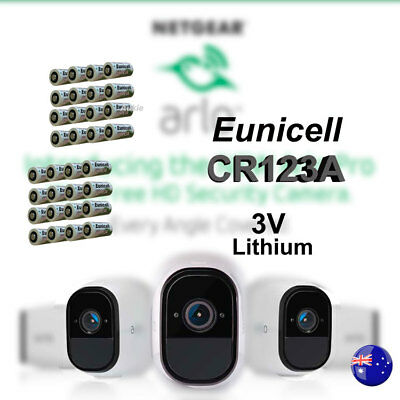 32 x Eunicell 3V CR123A CR17345 Non Rechargeable Battery Netgear Arlo Camera