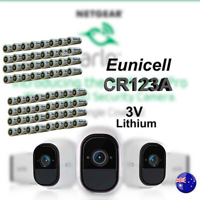 64 x Eunicell 3V CR123A CR17345 Non Rechargeable Battery Netgear Arlo Camera