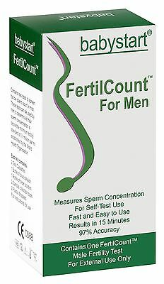 Babystart FertilCount Male Fertility Home Test Active Sperm Semen Count Kit