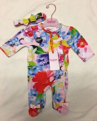 Ted baker Baby Girl Sleepsuit Newborn
