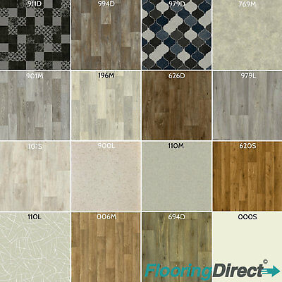 Clearance Vinyl Flooring Cushion Floor Lino 2m 3m 4m Wide Cheap Kitchen Bathroom
