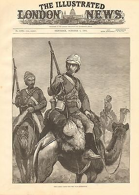 1884 Antique Print-The Camel Corps For The Nile Expedition