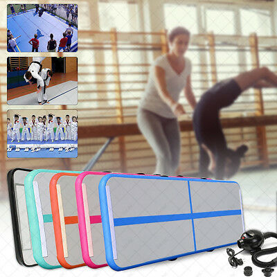 Gonflable Tapis Gymnastique Air GYM Tumbling Track Cheerleading Training + Pompe