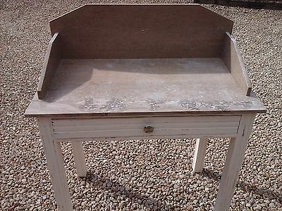 French Vintage Marble Washstand Distressed