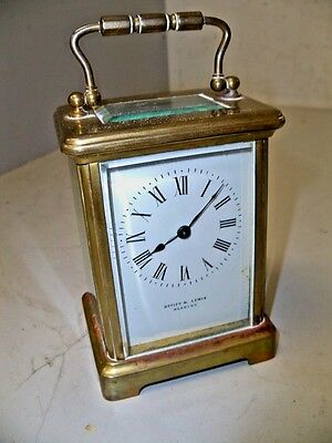 Antique French Time Only Carriage Clock