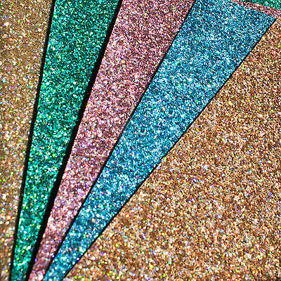 Holographic Chunky Glitter Fabric Sheets - Premium Quality for Crafts & Bows
