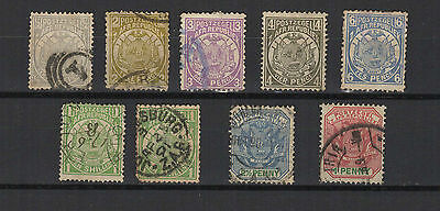 Transvaal South Africa colonie Anglaise 9 timbres anciens /T1945