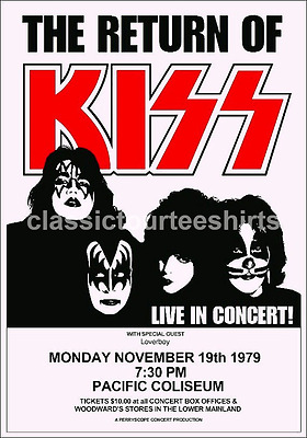 KISS Concert Poster Pacific Coliseum 1979 A3 Size Repro.. NEW
