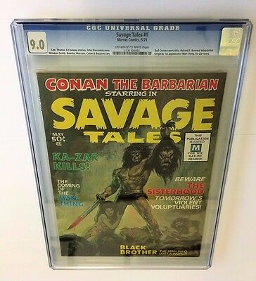 Savage Tales #1 Cgc 9.0 1St App & Origin Man-Thing! Ow / White Pages 1971 Wow!!!