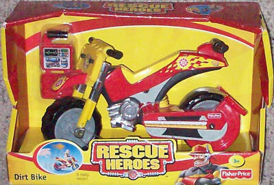 Rescue Heroes Dirt Bike New Fisher-Price