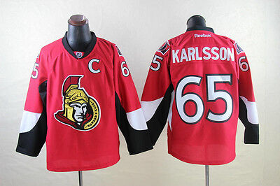 Ottawa Senators Men's Hockey Jersey M to 3XL Erik Karlsson 65