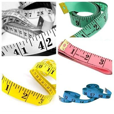 "5 X SEWING TAILOR TAPE MEASURE BODY MEASURING TAPES RULER SOFT FLAT 60"" 1.5cm UK"